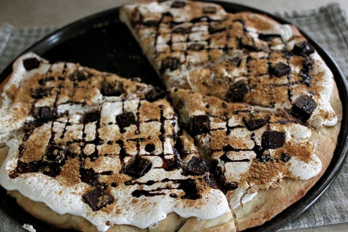 S'mores Dessert Pizza from The Creek line House!