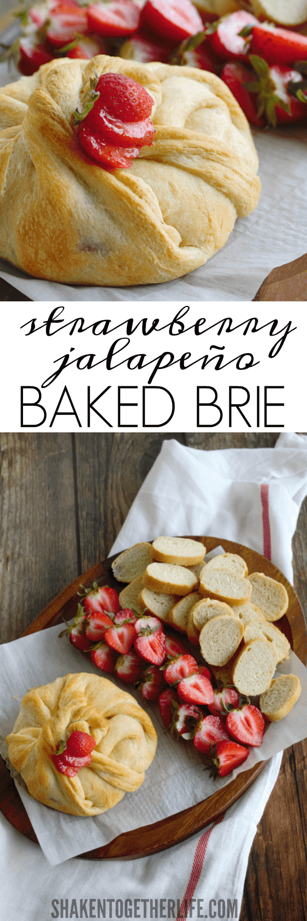 With just 3 ingredients and a sweet & spicy kick, this Strawberry Jalapeño Baked Brie will be your new favorite go-to appetizer!