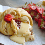 Our Strawberry Jalapeño Baked Brie is the perfect mix of creamy, sweet & a little kick!