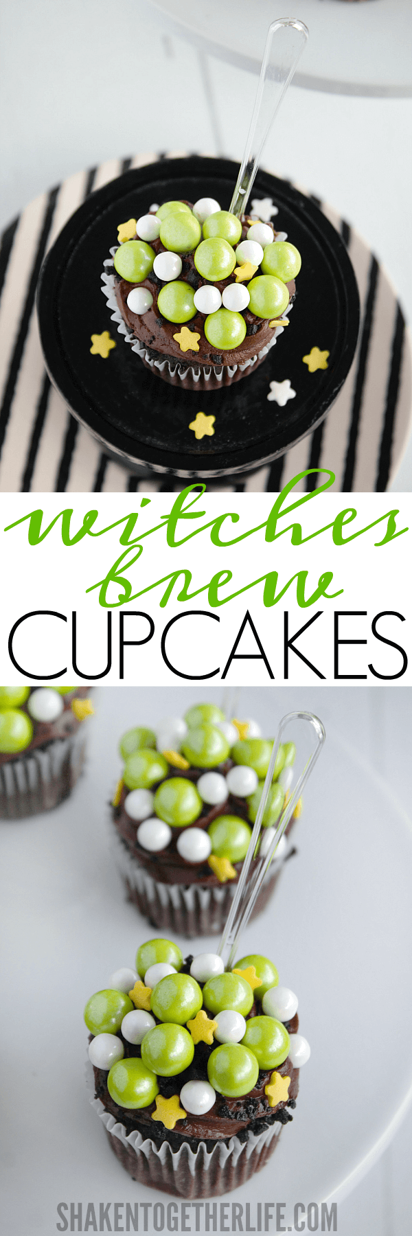 Witches Brew Cupcakes are the easiest Halloween dessert and make a cute addition to any Halloween party!