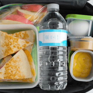 Lunch Box Quesadillas with Dipping Sauces