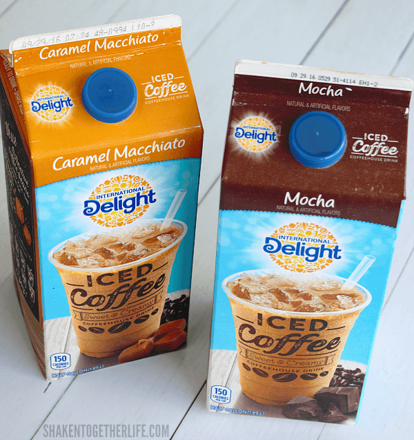 International Delight Iced Coffee is the secret to the light fluffy coffee flavored filling for our Iced Mocha Eclair Cake!