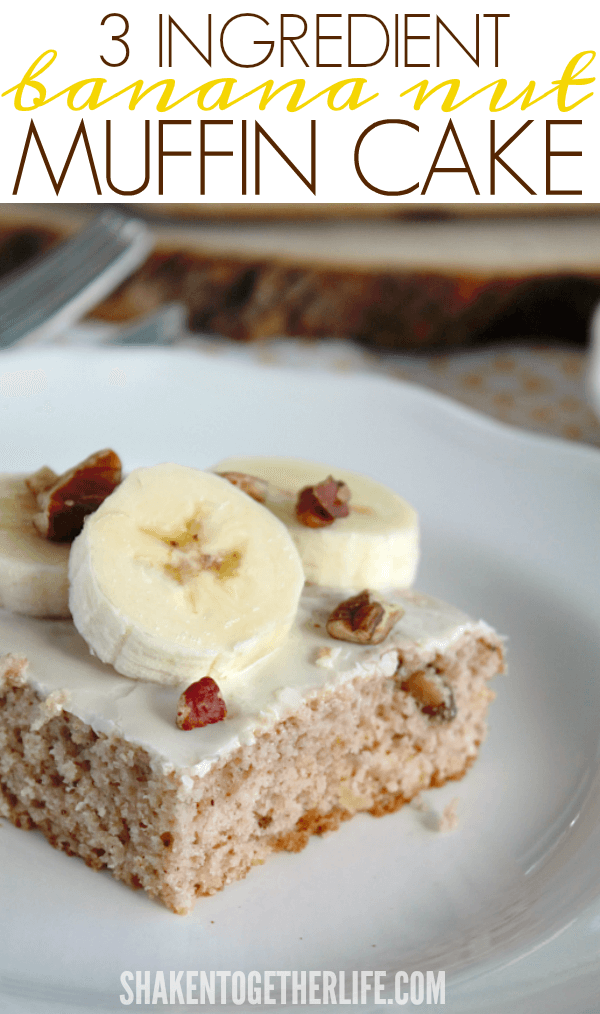 3 Ingredient Banana Nut Muffin Cake - this is so delicious, no one will believe how easy this breakfast dish is!