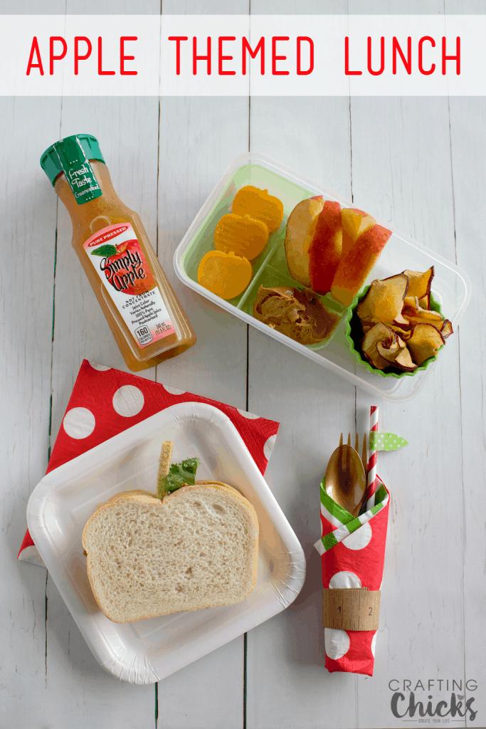 Apple Themed Lunch Box Idea