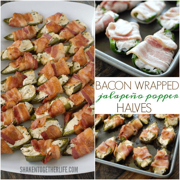 Bacon Wrapped Jalapeño Popper Halves are an easy and irresistible appetizer!