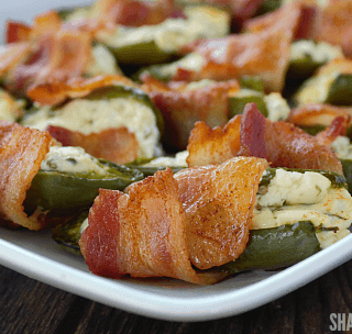 Bacon Wrapped Jalapeño Popper Halves