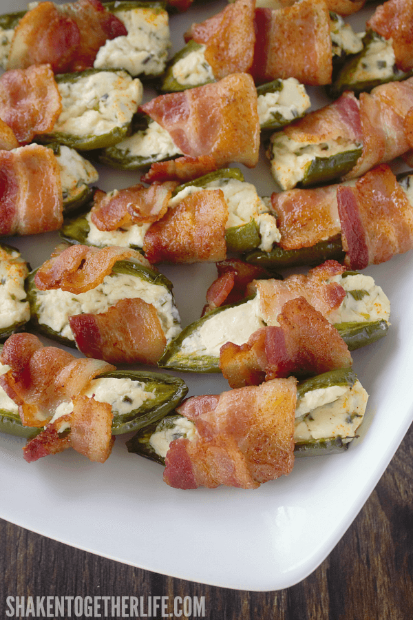 These Bacon Wrapped Jalapeño Popper Halves with cream cheese