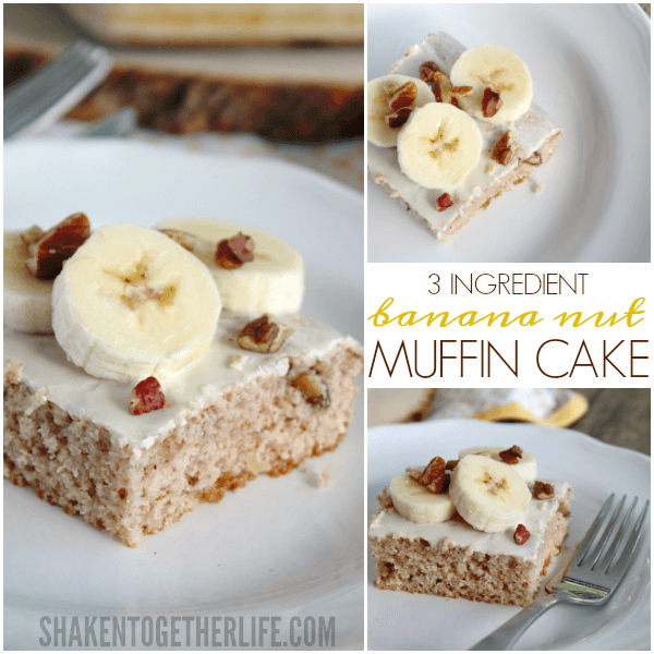 3 Ingredient Banana Nut Muffin Cake - this is the easiest and most delicious breakfast recipe!