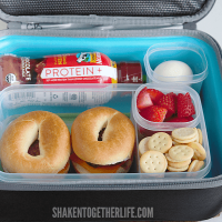 Brunch Box Protein Packed Lunch Box Idea - perfect for active teens!