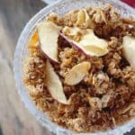 bowl of apple granola