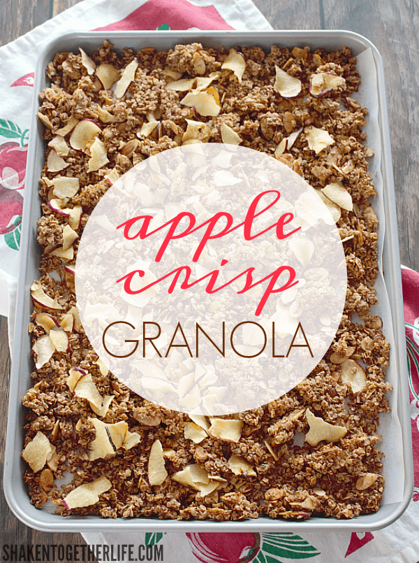 Homemade Apple Crisp Granola - a big ol' pan of the warm flavors of apple crisp!