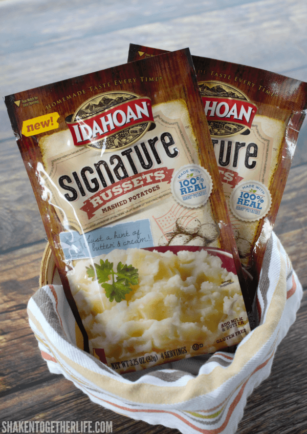 Our Rosemary Parmesan Mashed Potatoes start with Idahoan Signature Russets - Sunday dinner flavor any night of the week!