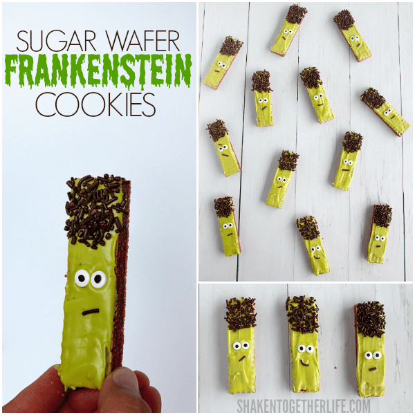 Sugar Wafer Halloween Cookies - these no bake Halloween treats are so easy it's scary!