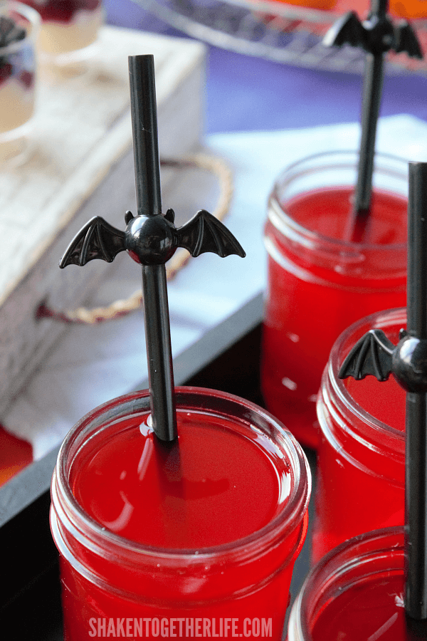 Vampire Juice is the perfect spooky sipper to add to your Halloween Dessert Bar!