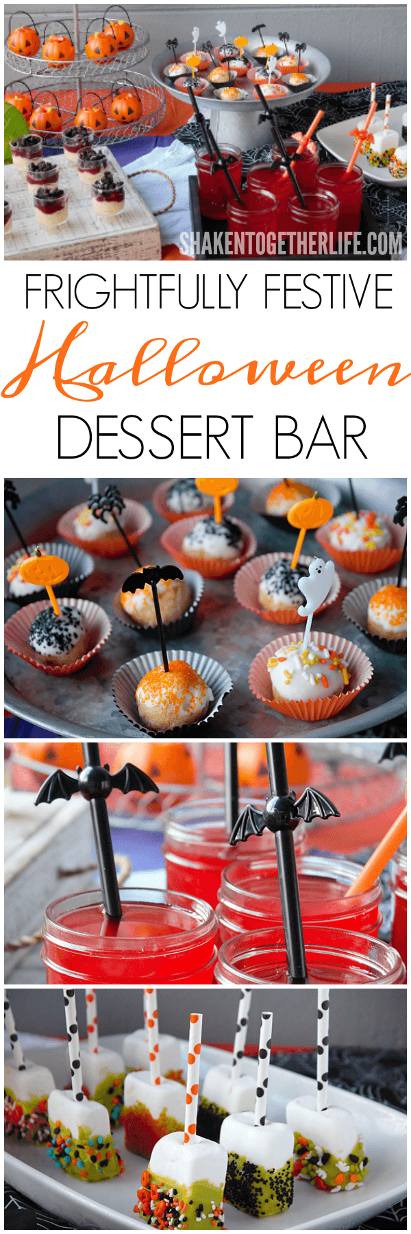 Set up a Frightfully Festive Halloween Dessert Bar this Halloween! You'll love all the no bake Halloween recipes and no stress decorations!!