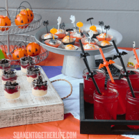 Our Frightfully Festive Halloween Dessert Bar is the perfect way to treat your guys and ghouls this Halloween! No bake desserts makes this a no stress event!
