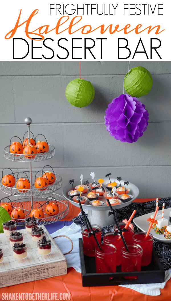 Set up a Frightfully Festive Halloween Dessert Bar this Halloween! You'll love all the no bake Halloween recipes!