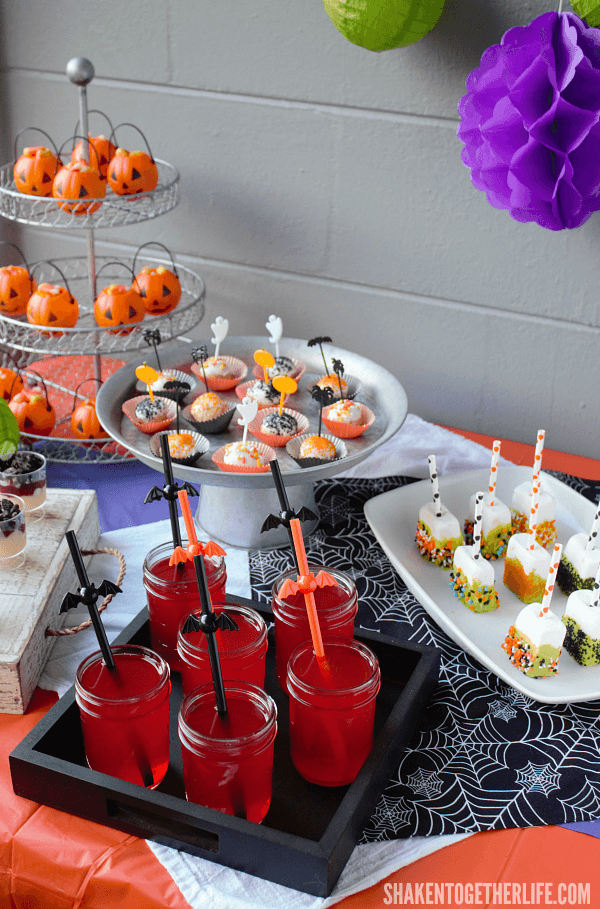 Our Halloween Dessert Bar is a brightly colored, frightfully festive sweet stop perfect for a Halloween party!