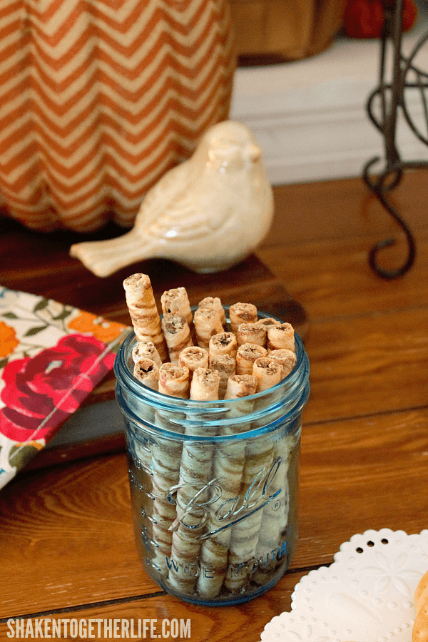 Host a Fall Wine Tasting Party! We paired a bright berry sparkling red wine with dark chocolate cookie sticks
