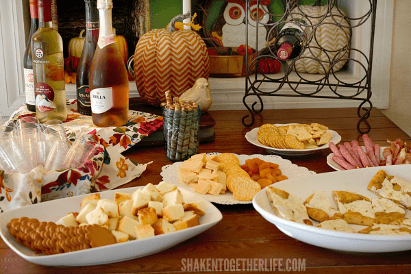 Host a Fall Wine Tasting Party! Lots of tips and easy food pairing ideas!