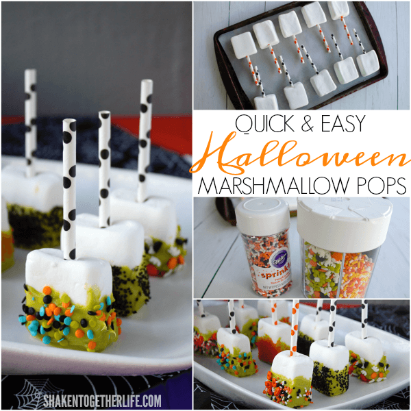 Quick and easy Halloween Marshmallow Pops are frightfully festive and SO easy to make!