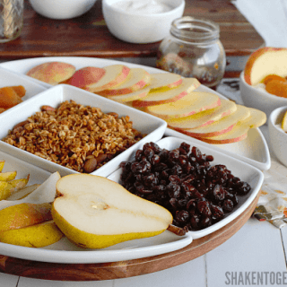 This Rustic Harvest Yogurt Bar is the perfect do-it-yourself breakfast idea for any Fall get together, brunch or breakfast!