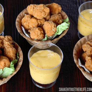 Chicken & Waffle Bowls {Game Day Appetizer}