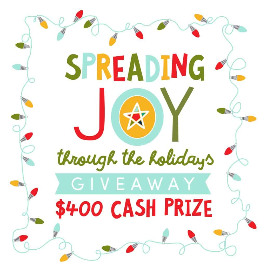 Spread Joy Holiday Gift idea - package up delicious ways to spread joy this holiday season! AND enter the Spreading Joy holiday cash giveaway!!