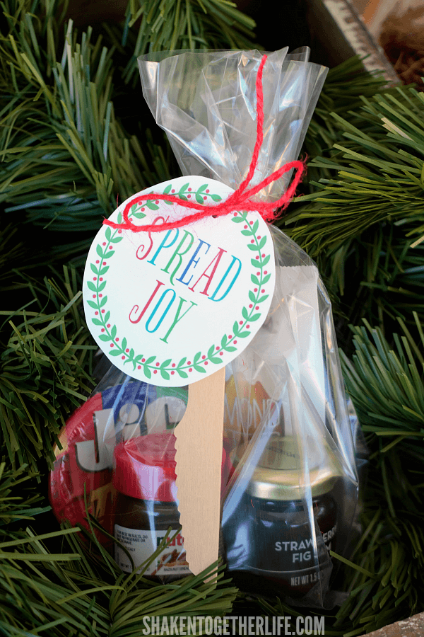 Make Spread Joy Holiday Gifts for under $5 each! What an easy, affordable gift idea for teachers, coworkers, neighbors and friends!