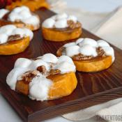 Sweet Potato Casserole Bites are an easy twist on classic sweet potato casserole!