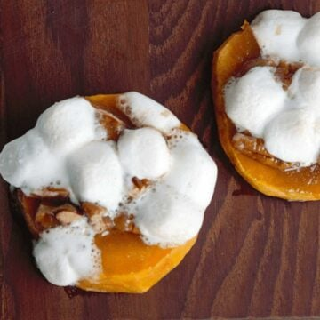 sweet potatoes topped with marshmallows
