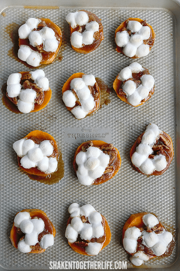 Sweet Potato Casserole Bites after baking
