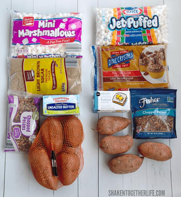 Ingredients for Sweet Potato Casserole Bites