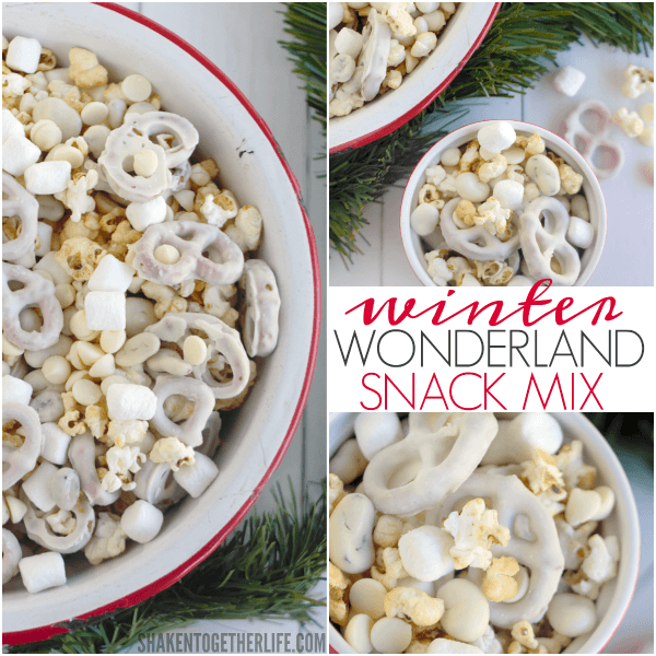 Mix up a big bowl of this sweet and salty Winter Wonderland Snack Mix!