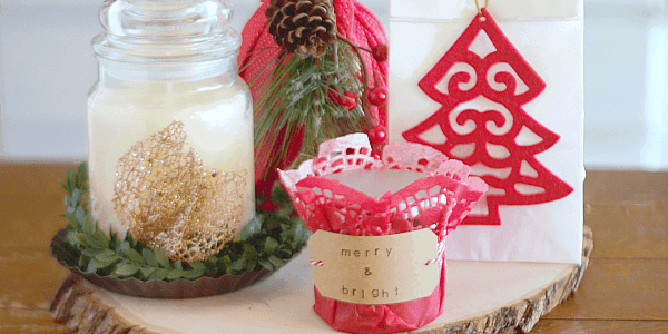 With our 4 easy ways to wrap candles for gifts, you can take the stress out of holiday gift giving and deliver a big WOW factor!
