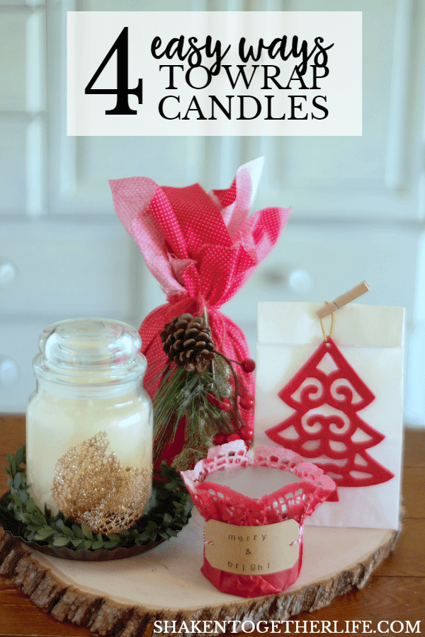 Our 4 easy ways to wrap candles for gifts make holiday gift giving simple and affordable!