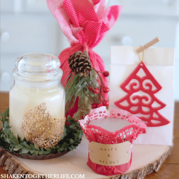 With our 4 easy ways to wrap candles for gifts, you can take the stress out of holiday gift giving for teachers, friends, gift exchanges and coworkers!