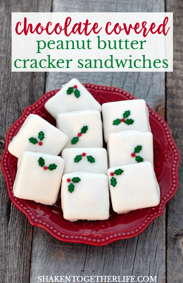 Chocolate Covered Peanut Butter Cracker Sandwiches - an easy, sweet & salty no bake treat!