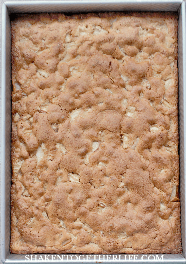 apple cake before glazing