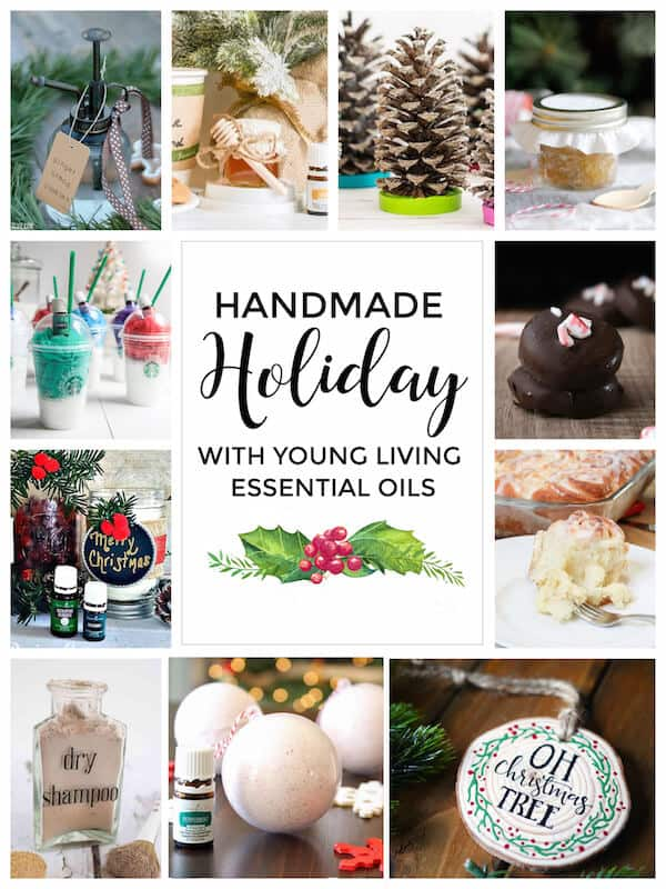 Holiday Room Spray Recipes with Essential oils - just one of the 11 handmade holiday gifts you can make with Young Living Essential Oils!