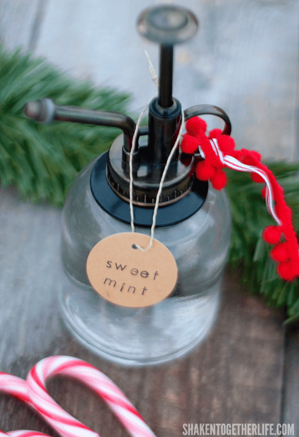 Sweet Mint is one of my favorite Holiday Room Spray recipes made with essential oils! The blend of peppermint and vanilla smells so good!