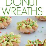 mini donut christmas wreath treats