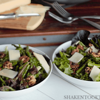 Roasted Asparagus Salad with Walnuts & Asiago
