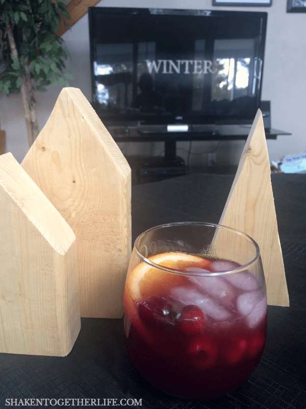 We enjoyed a glass (or two!) of Sparkling Sangria Punch while crafting and binge watching Gilmore Girls!