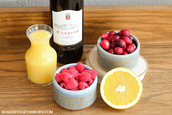 Just a few ingredients are all you need to mix up a pitcher of our Sparkling Sangria Punch!