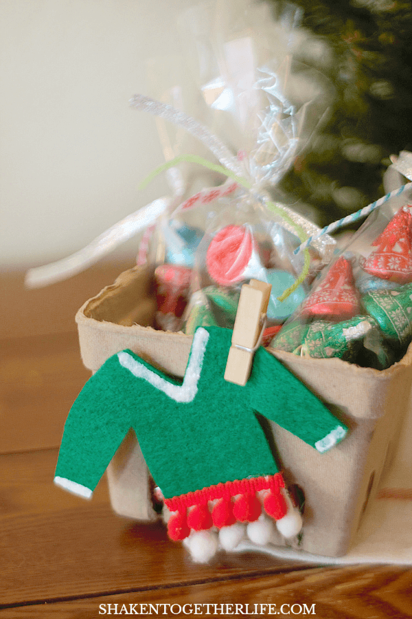 Adorably atrocious mini felt ugly sweaters and ugly sweater party favors!