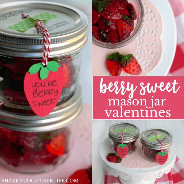Berry Sweet Mason Jar Valentines are easy to make and perfect for your berry sweetest friends!