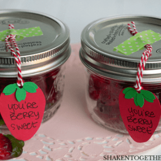 Berry Sweet Mason Jar Valentines