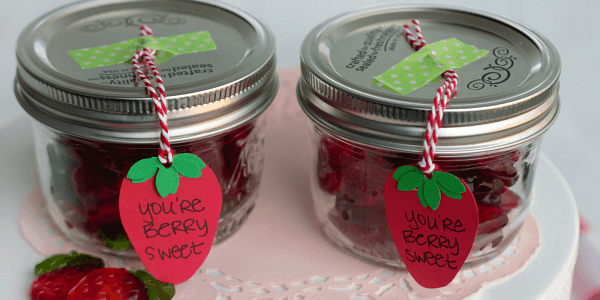 Give your berry favorite people a little love with our Berry Sweet Mason Jar Valentines! These are an easy Valentine gift!