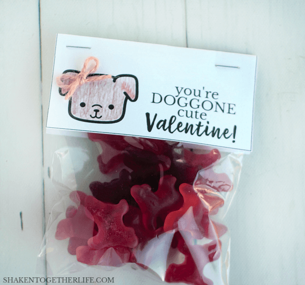DOGGONE Cute Valentines for girls - color the dogs and add twine bows!
